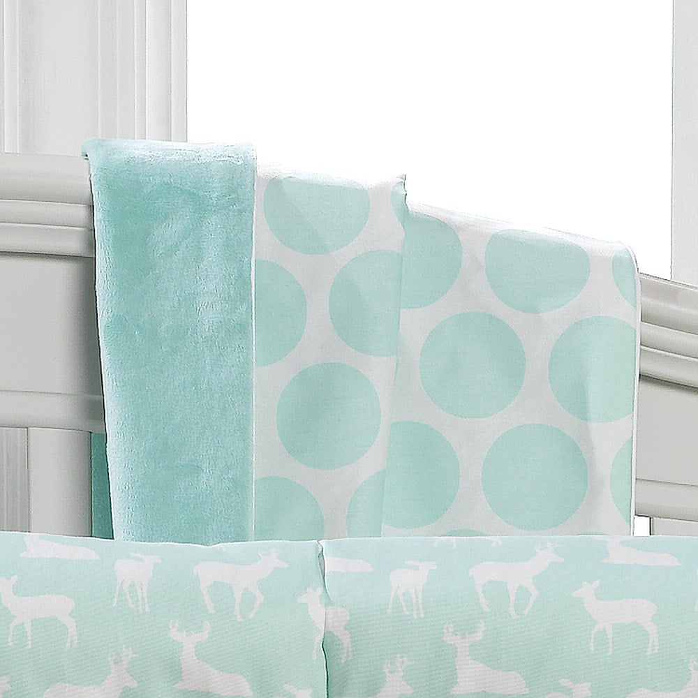 Mint Dot Minky Receiving Blanket - liz-and-roo-fine-baby-bedding.myshopify.com