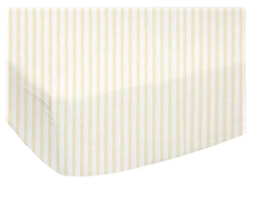 Yellow Stripe Cotton Jersey Crib Sheet - liz-and-roo-fine-baby-bedding.myshopify.com