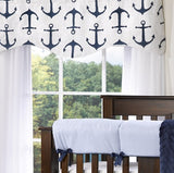Navy Anchors Window Treatments - liz-and-roo-fine-baby-bedding.myshopify.com - 1