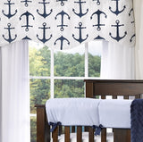 Navy Metro Anchors Crib Bedding (Bumperless) - liz-and-roo-fine-baby-bedding.myshopify.com - 3