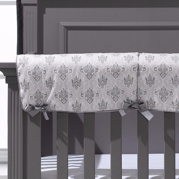 Bella Damask Crib Rail Cover - liz-and-roo-fine-baby-bedding.myshopify.com - 1