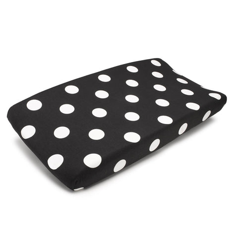 Polka Dots (Black and White) Contoured Changing Pad Cover