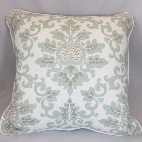 Cecelia (Taupe and Seafoam) Accent Pillow - liz-and-roo-fine-baby-bedding.myshopify.com - 1