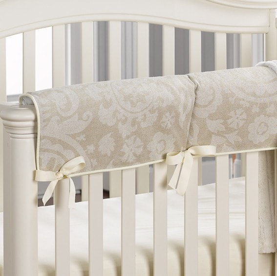 Cloud Linens Suzani Crib Rail Cover - liz-and-roo-fine-baby-bedding.myshopify.com