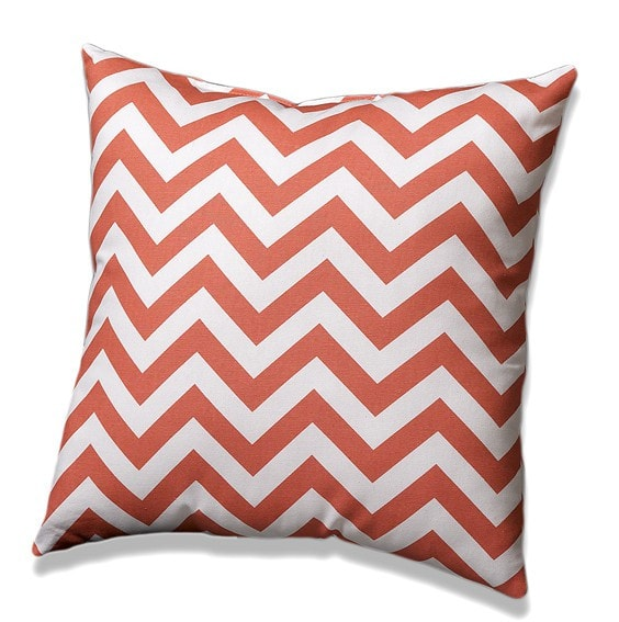 Coral Chevron Throw Pillows - liz-and-roo-fine-baby-bedding.myshopify.com