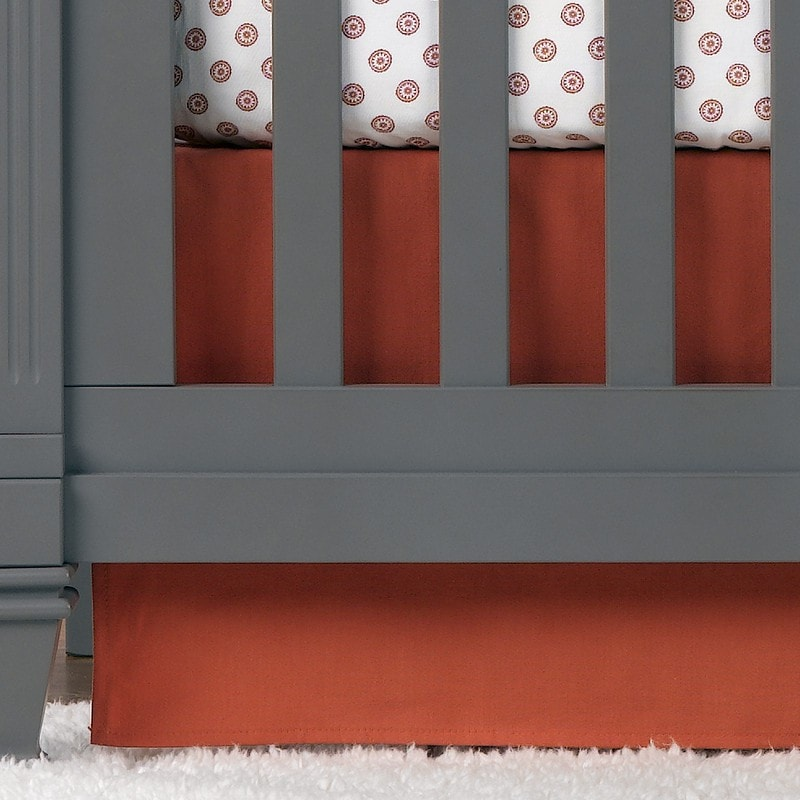 "Coral Crib Skirt 17"" Drop - liz-and-roo-fine-baby-bedding.myshopify.com"