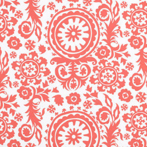 Premier Coral Suzani Fabric - liz-and-roo-fine-baby-bedding.myshopify.com