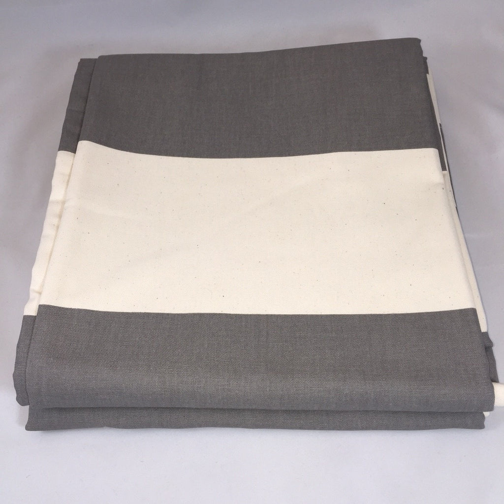 Dark Gray and Natural Cabana Stripe Curtains - liz-and-roo-fine-baby-bedding.myshopify.com - 1