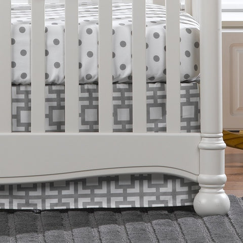 Gray Dots 2-pc. Crib Bedding