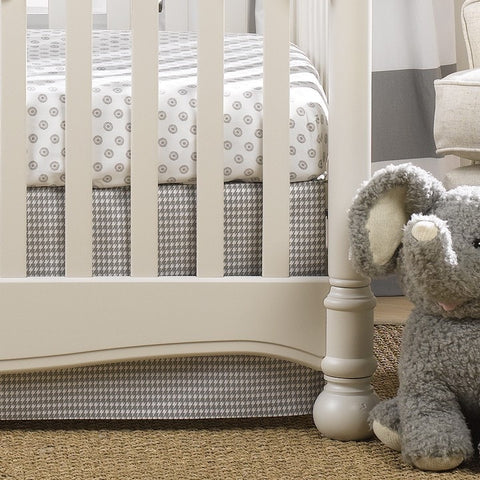 Gray Houndstooth 2-pc. Crib Bedding