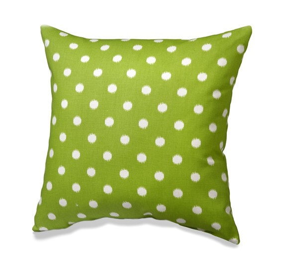 Chartreuse Green Ikat Dot Pillows - liz-and-roo-fine-baby-bedding.myshopify.com