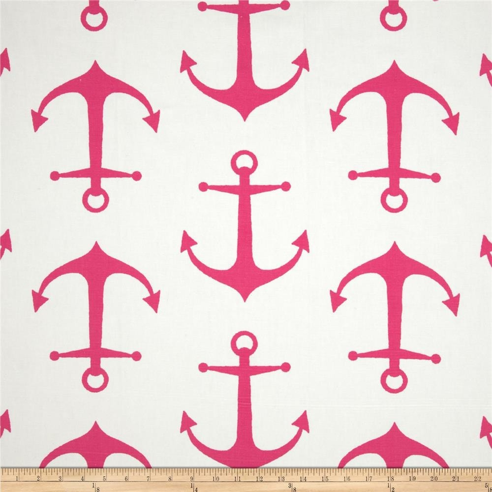 Hot Pink Anchors Crib Sheet - liz-and-roo-fine-baby-bedding.myshopify.com