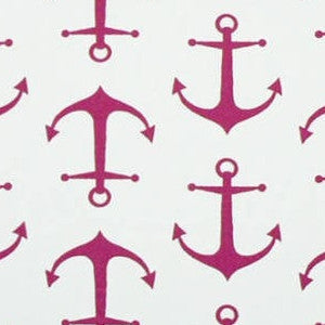 Anchors Candy Pink/White - Premier Prints