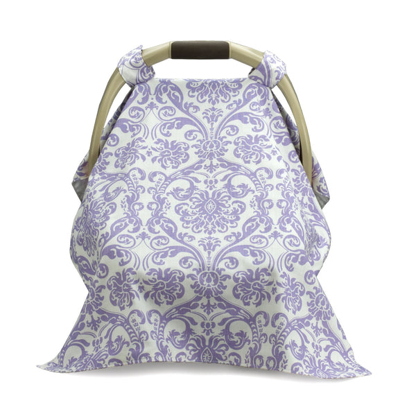 Lavender Damask Carseat Carrier Cover