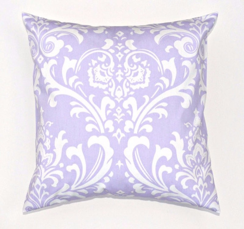Lavender Damask Throw Pillows - liz-and-roo-fine-baby-bedding.myshopify.com