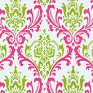 Premier Madison Chartreuse Candy Pink Fabric - liz-and-roo-fine-baby-bedding.myshopify.com