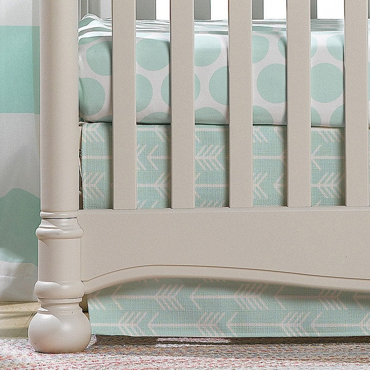 Mint Arrow 2-pc. Crib Bedding - Discontinued - liz-and-roo-fine-baby-bedding.myshopify.com