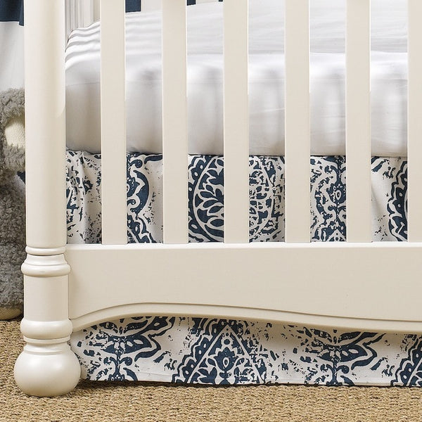 Navy Tristan 2-pc. Crib Bedding - liz-and-roo-fine-baby-bedding.myshopify.com