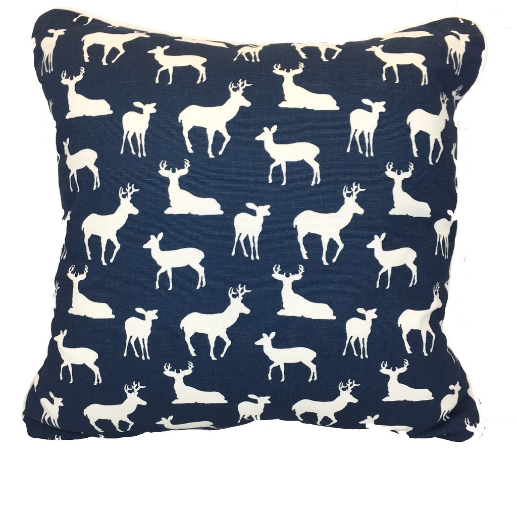 Navy Woodland Accent Pillow - liz-and-roo-fine-baby-bedding.myshopify.com