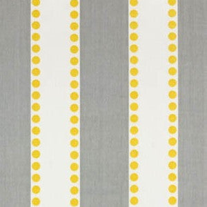 Lulu gray/white stripe (yellow dots) - liz-and-roo-fine-baby-bedding.myshopify.com