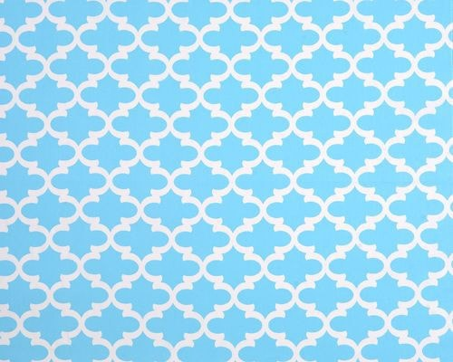Sky Blue Trellis Baby Pillow Sham - liz-and-roo-fine-baby-bedding.myshopify.com