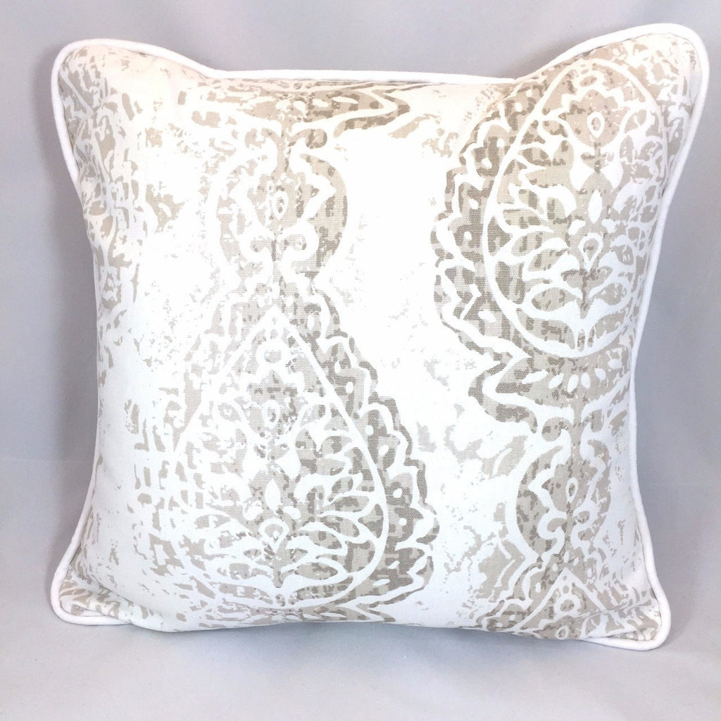 Tristan (Taupe and Gray) Accent Pillow - liz-and-roo-fine-baby-bedding.myshopify.com