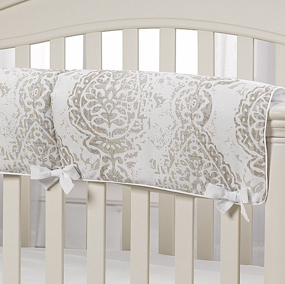 Tristan Taupe And Gray Crib Rail Covers Neutral Baby