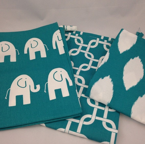 The Sack - Turquoise Patterns - liz-and-roo-fine-baby-bedding.myshopify.com - 1
