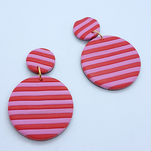 Freya Earrings - Pink and Red