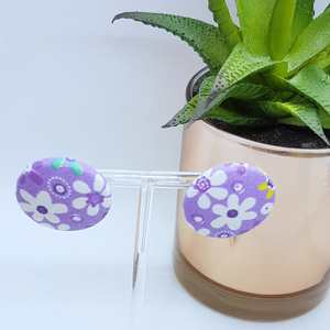Diane Fabric Button Studs