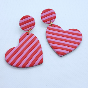 Natalia Earrings - Pink and Red