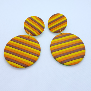 Delilah Earrings - Yellow, Brown and Orange