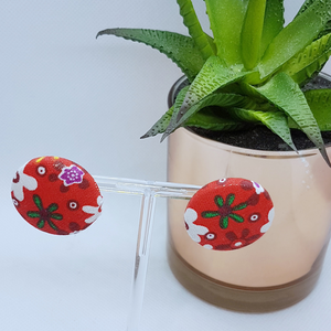Deborah Fabric Button Studs