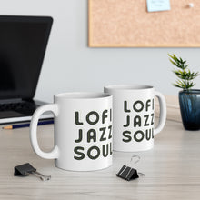 Load image into Gallery viewer, Lofijazzsoul Green Outlined Mug 11oz
