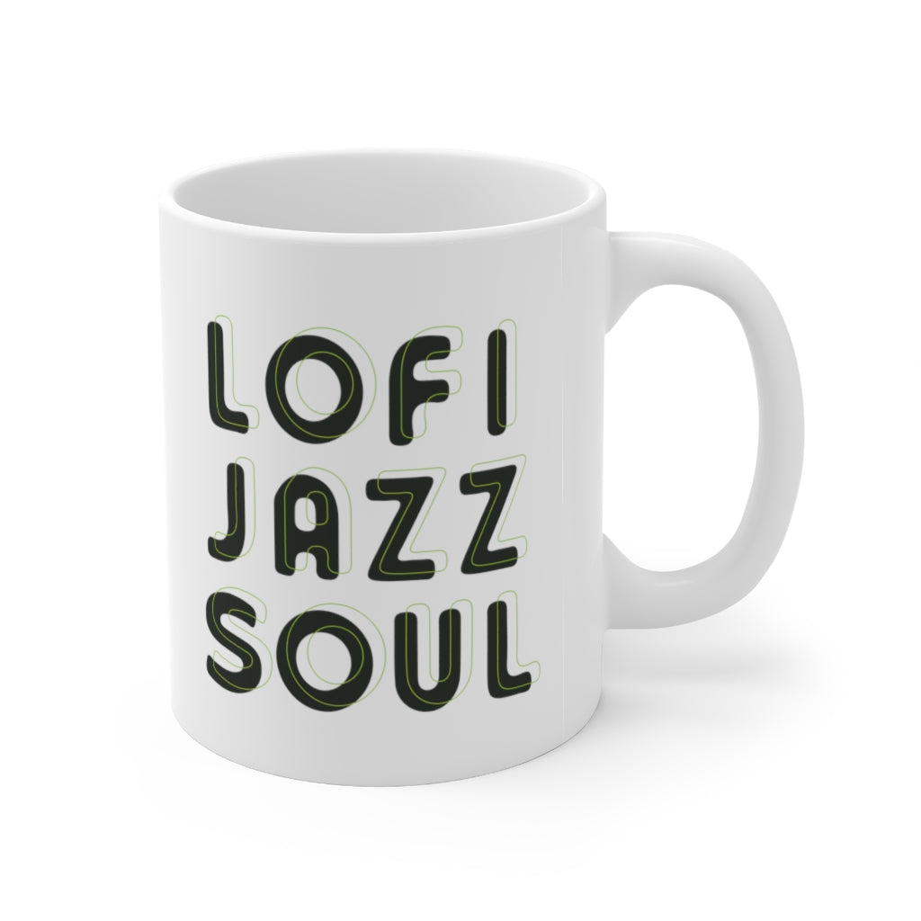 Lofijazzsoul Green Outlined Mug 11oz