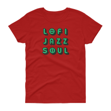 "Load image into Gallery viewer, Lofijazzsoul ""Green Logo""  Women's T-shirt - lofijazzsoul"