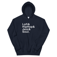 Load image into Gallery viewer, Lofi, HipHop, Jazz & Soul - Unisex Hoodie - lofijazzsoul