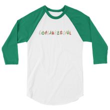 Load image into Gallery viewer, Limited Edition Lofijazzsoul 3/4 sleeve raglan shirt - lofijazzsoul