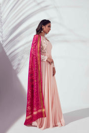 Light pink anarkali set