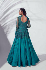 Teal Green gown