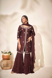 Pearl crafted sharara set