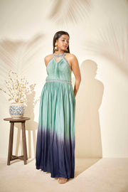 Ombre halter dress