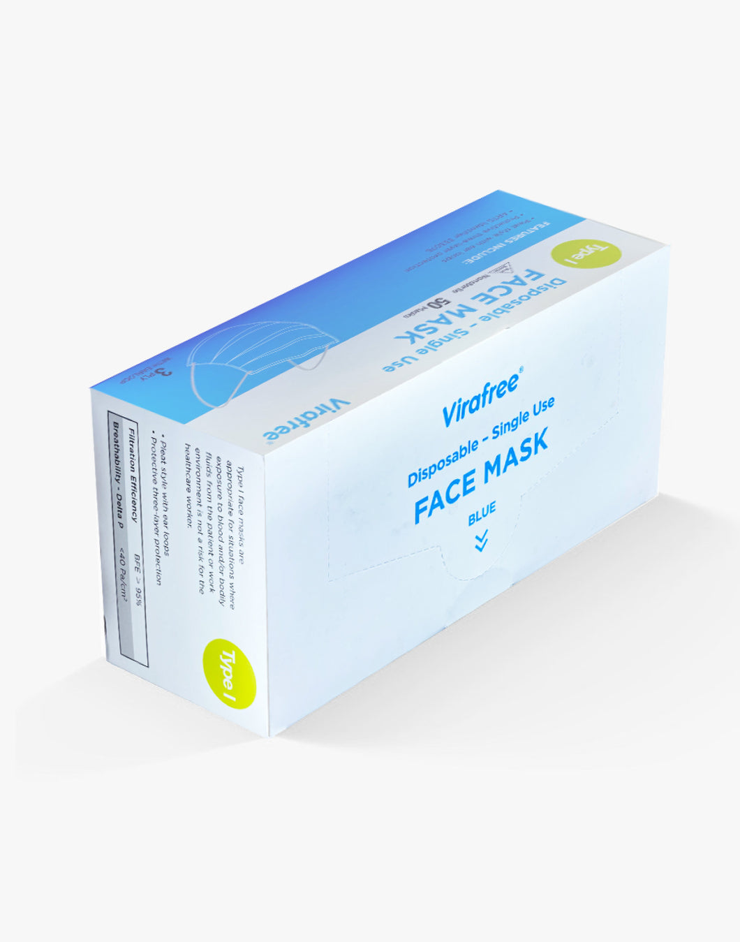 3 ply Disposable - 50 Pack