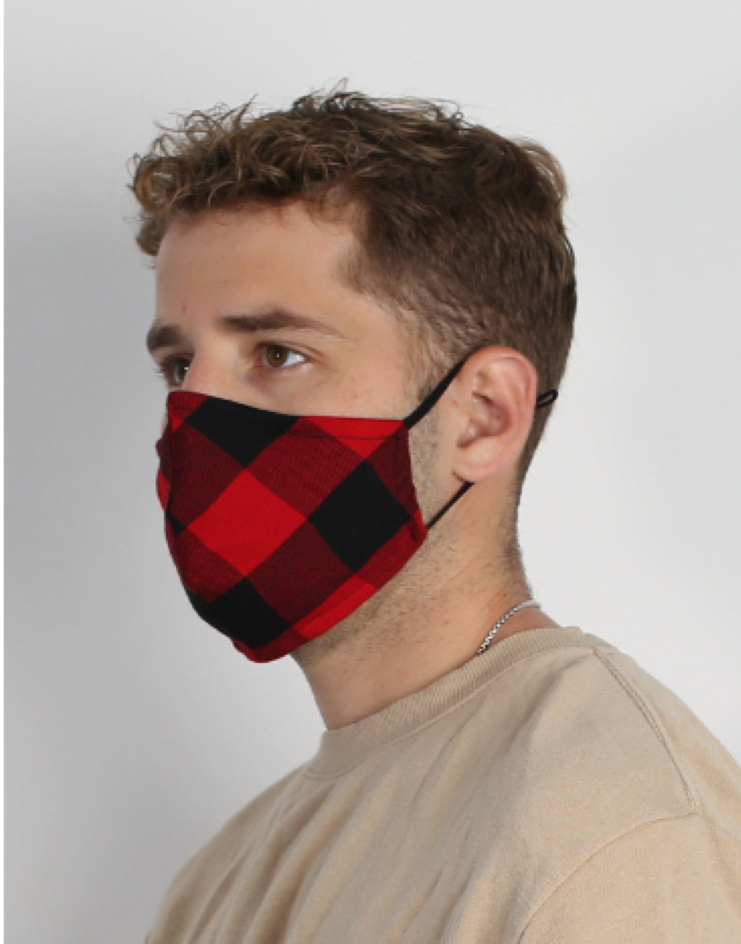 Hoxton Mask - Plaid Red