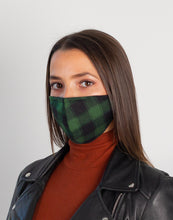 Load image into Gallery viewer, Hoxton Mask - Green Plaid