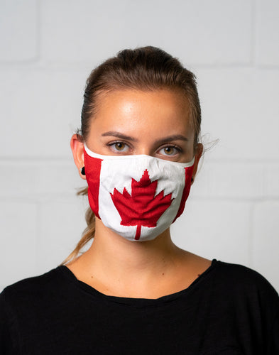 Canadian Flag Maple Leaf Mask