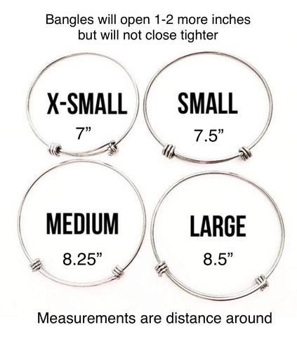Bangle bracelet sizing chart