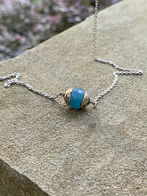 Load image into Gallery viewer, Ocean Agate Turquoise Colored Boho Necklace