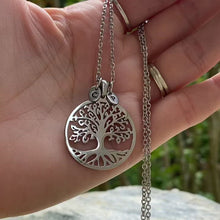 Load and play video in Gallery viewer, Tree Of Life Initial Necklace