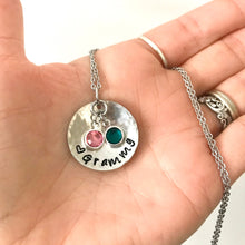 Load image into Gallery viewer, Birthstone Grammy Necklace